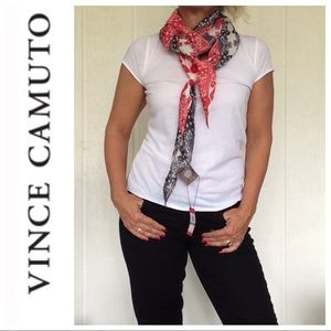 NWT VINCE CAMUTO RED WHITE AND BLUE LONG SCARF